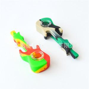 Gitarrenmodell Erwachsene Silikon-Rohr Umweltschutz Protable Männer Rohre Rauchen Zubehör Multicolor Neue Ankunft Heißer Verkauf 6 5xj J2 2