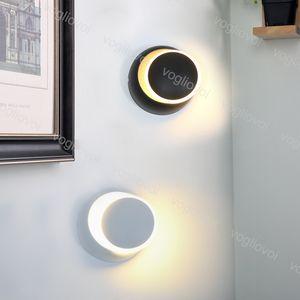 Wall Lamp COB 5W 6500K 3000K 360 Degree Rotation Adjustable 85-265V Creative Modern Round Lamp For Bedroom Bedside Light Living Room DHL