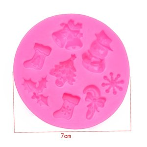 Christmas Type Gift Snack Mold Epoxy Resin Silicone Molds Cute Snowman Snowflake Bell Tree Leaf Crutches Mould Hot Sale 2 1gw L2