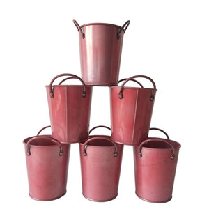 10Pcs lot D9XH10CM Iron tub for christmas gift holder favor holder candy metal bucket DIY Decoration