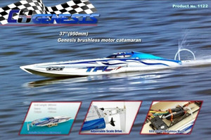 Wholesale Genesis 1122 Catamaran Racing Boat  Fiberglass With Dual Motors 3660 Brushless Motor KV2726, 120A Hobbywing ESC F00X#