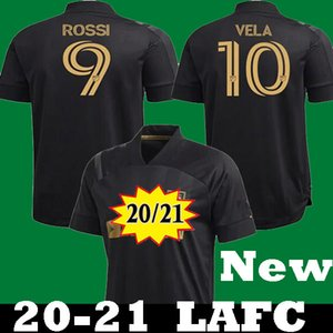 Novo 2020 2021 LAFC Carlos Vela Rossi Home Black Soccer Jerseys 20 21 Zelaya Gaber Ciman Zimmerman Branco Parley Futebol Primária Camisas