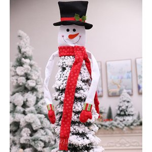 Christmas Tree Topper Cute Top Hat Winter Party Tree Decorations Old Man Snowman Ornament Christmas Decorations 2020
