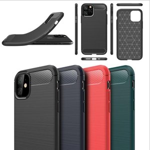 DHL 100pcs High Quality TPU Carbon Fiber Case for iPhone 6 7 8 X 11 Series Three colors Samsung Galaxy note10 note 10pro Cover Skin