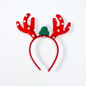 Christmas Gifts Red Green Antlers Kids Headband Christmas Decorations For Home Merry Christmas Decor 2021 New Year Natal Kerst bbyFBN