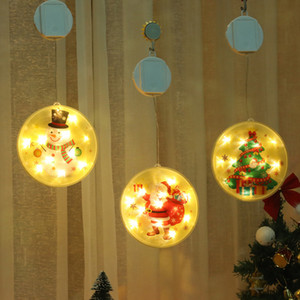 High-end Christmas tree LED color painting hanging light room decoration battery LED hanging light curtain light new year OWB2363
