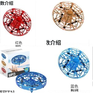 ZWFX Spinners Flying Tricked-out Mano LED Spinner Mini UFO Volante Drone Piattino UFO Remote Fly Control Creative Saur Gesture Induction Most