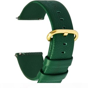 Gold Buckle Quick Release Watch Band Genuine Leather Strap Gold Buckle Watch Band 18mm 20mm 22mm 24mm Accessory Bracelet