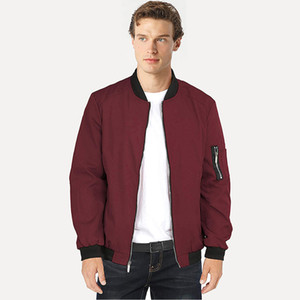 New Spring and Autumn Sports Leisure Stand Collar Air Force No.1 Ma01 Pilot Men's Baseball Jacket