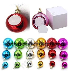Blank Sublimation Christmas Baubles Thermal Xmas Tree Ball Glossy Shiny Hanging Balls Heat Print Bauble Party Ornaments Decoration F102204