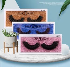 25 mm mink hair false eyelashes three-dimensional messy cross 6D eyelashes dhl free shipping
