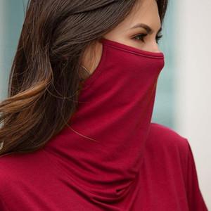 Tshirt Multi-function Dustproof Face Shield Long sleeves T-shirt Casual Shirts 2020 Autumn Streetwear Women Tees Tops Pullover A1112
