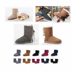 2021 Klasik Avustralya Wgg Kadınlar Platformu Bayan Boot Girls Lady Bailey Yay Kış Kürk Kar Yarım Diz Kısa Çizmeler 36-42 W5OL #