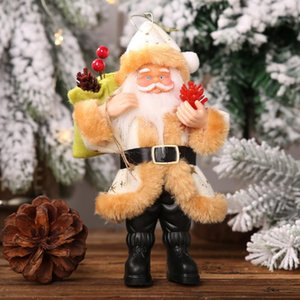 Standing Party Santa Claus Shape Decoration Cartoon Toy Christmas Office Hanging Ornament Gift Doll Pendant Home Kids