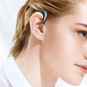 2020 Fashion Bone Conduction Wireless Ear-mounted Business Headset Bilateral Stereo Power Display Call Function Voice Control