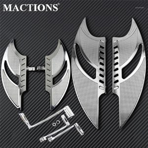 Motorcycle Front Rear Floorboards Pedal Foot Peg&Brake Arm Shift Lever Chrome For Softail Fatboy Slim FLS CVO Deluxe1