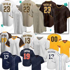 23 Fernando Tatis Jr.Baseball Jrseys 13 ماني Machado 19 Tony Gwynn Retro مخصص 2020 New Season Jersey