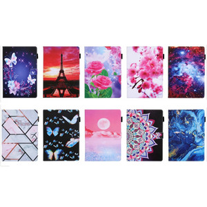 Leather Wallet Case For Ipad Pro 2020 Air4 11 2 3 4 5 6 Air 2 9.7''10.5 11 Mini Flower Butterfly Tower Marble Moon Star Sky Holder Cover