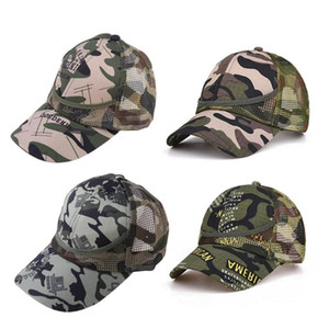 Summer Kids Mesh Hat Boys Girls Camouflage Baseball Hats Casual Hip Hop Hat Children Fashion Cotton Flat Hats for 3-12 Y