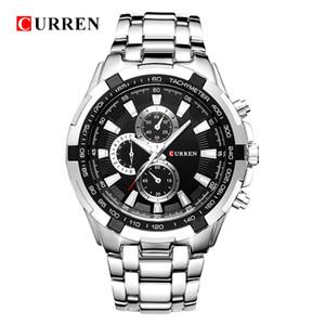 Оригинальные часы Curren 8023 Мужчины Кварцевые спортивные часы Мужчины Военные наручные часы Повседневная Полная сталь Мужчины Смотреть Водонепроницаемый Reloj Relojes