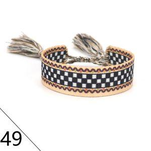 Femme ajustável carta de algodão tecida pulseiras amante bracelete bordado bordado para mulheres homens corda corda braceletbangle amizade jóias sem caixa