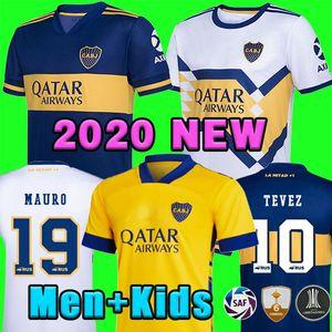 2020 2021 Boca Juniors Soccer Jersey الصفحة الرئيسية Boca Juniors Gago Osvaldo Carlitos Perez دي روسي تيفيز بافون JRS الرجال الاطفال كرة القدم قميص الأعلى