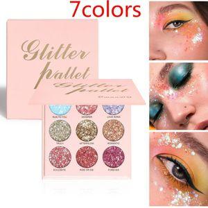 New Arrival Eyeshadow Palette Shiny Matte Glitter Eye Shadow Pallete Metallic Diamond Makeup Palette Make Up Cosmetics TSLM1