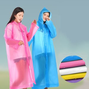 EVA raincoat scenic spot tourism hiking transparent outdoor thickening male and female adult non-disposable raincoat scrub