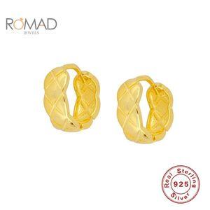 Romad Women Mini Pendientes irregulares Joyas 925 Sterling Silver Fashion Serpentine Hoops Pendientes Piercing Joyero Bijoux Femme