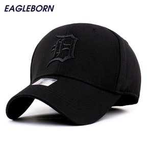 Spandex Elastic Fitted Hats Sunscreen Detroit Baseball Cap Men Women Adjustable Caps Casquette Gorras Bone Reta Wholesale 201023