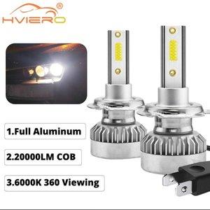 2X voiture Phares H7 automatique des phares 6000k 110W 20000lm Blanc Led Car Light Voir Cob Full LED Aluminium marche / arrêt rapide