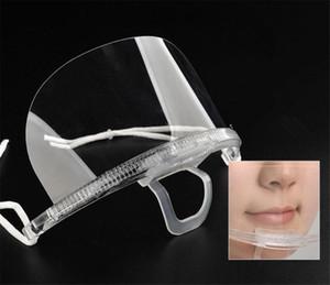 Volto di sicurezza Igiene scudo di plastica visiera protettiva Anti-Fog Anti-Splash Trasparente Food Face Shield Per Bocca Naso