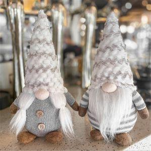 Weihnachten Schnee Männer Plüsch Weihnachtsdekoration gesichtslose Puppe Wald alter Mann Rudolph Verzierungen holloween Cosplay Kostüme gestrickt