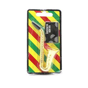 Haut-parleur Fumer des tuyaux de tabac Saxophone Tuyau de trompette en métal Tobacco Filtre à la main Tuyaux de cigarettes Outils de fumée Accessoires avec écrans de maille