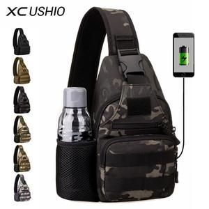 XC Ushio Outdoor Tactical Escalerie Sac à bandoulière Chasse USB Coffre Sac Camping Survival Molle Sac à dos Rucksack