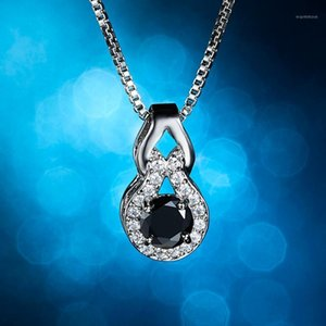 Rinhoo 1 pc lindo brilhante zircon gourd forma pingente liga liga cadeia colar para mulheres femininas charme jóias presente1