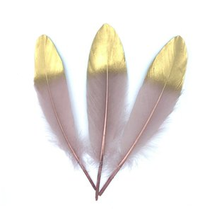 5-7 inches Gold Plated Feathers For Christmas & Wedding Party Decoration & DIY Handicrafts Accessories Home Decoration OWB2371