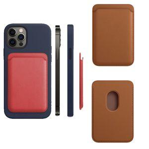 Leder Wallet Card Solt Bag für iPhone 12 PRO MAX 12PRO MAGSAFE Magnetische Mode-Kartenhalter für iPhone12 Mini-Telefongehäuse COQUE