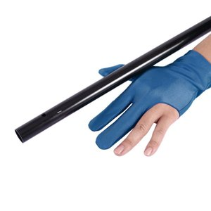 Professional Unisex Left-hand Strectchable Comfortable Cue Billiard Pool Shooters 3 Fingers Gloves Accessory Free Shipping