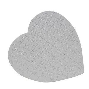 DIY Kalp Şeklinde Sublime Bulmacalar Blank İnci Puzzle Düğün Doğum Sevgililer Günü Partisi Hediye HHB2419 Favor