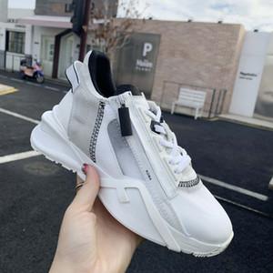 Neue Freizeitschuhe Männer Frauen Casual Schuh im Frühjahr 2021 Semi-Perspektive Nano-Mesh Alphabet Tuch Mode Liebhaber Schuhe mit Box