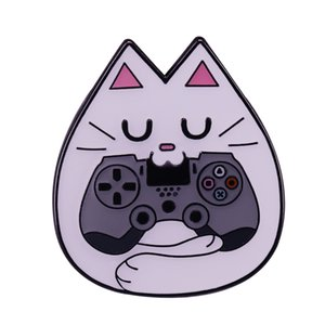 Cute Game Controller Cat Pins Just a silly kitty playing random games on the PS4 and XBox One.