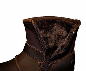 Bottes d'automne / d'hiver de la zone d'Otto Bottes de cuir véritable cuir de vachette haute Bottines en cuir rembourré Taille Taille de la Taille EU 39-46 LJ200918