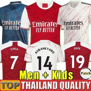 Arsenal maillots de foot 20 21 PEPE SAKA WILLIAN NICOLAS CEBALLOS GUENDOUZI SOKRATIS TIERNEY 2020 2021 Maillot de foot Hommes Femmes Kit enfants uniforme