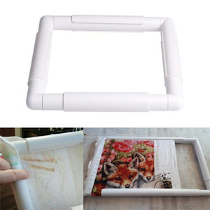 4 Size Plastic Embroidery Frame Hoop Square Shape Cross Stitch Machine White Needlework Craft Sewing Hoop Embroidery Tools