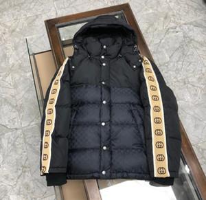20FW diseñador de moda de alta calidad para hombre abrigos de invierno mujeres de los hombres flojos por la chaqueta rompevientos secundarios bandas reflectantes sw ocasional pares capucha
