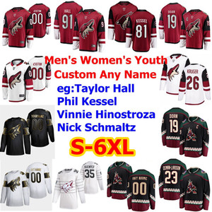 S-6XL Golden Edition Arizona Coyotes Jerseys 1 Eric Comrie John Hayden Johan Larsson Tyler Pitlick Adin Hill Hockey Jerseys Custom Stitched