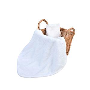 Bamboo Fiber Washable Baby Feeding Face Towels Infant Wipe Wash Cloth Newborns Handkerchief Bath Towel White