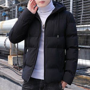 New Parkas Men Winter Thick Bomber Jacket Mens Fashion Slim Fit Cotton Padded Hooded Coat Casual Baseball Outwear Men Plus Size 201028