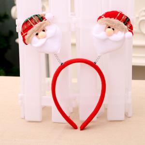 Cute Christmas Headband Santa Claus Antlers Snowman Headwear For Women Girls Christmas Party Dress Hair Decoration